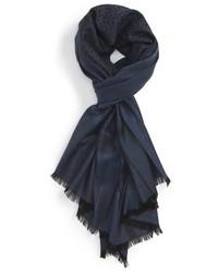 Salvatore Ferragamo Gancini Print Wool Silk Scarf