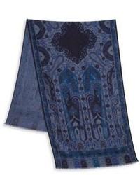 Etro Printed Wool Silk Scarf