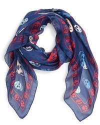 Skull print silk scarf medium 842117