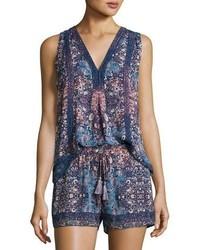 Joie Adelcie Sleeveless Silk Printed Top