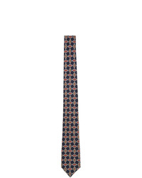 Gucci Navy Silk G Diamond Print Tie