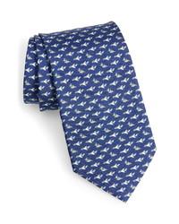 Salvatore Ferragamo Plane Print Silk Tie