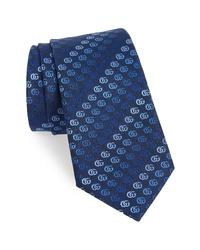 Gucci Soft Running Gg Silk Tie