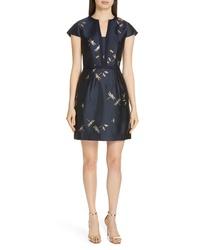 Ted Baker London Hartty Dragonfly Jacquard Dress