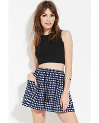Tasseled plaid skater skirt medium 446752