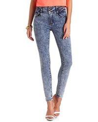 Charlotte Russe High Waist Acid Wash Skinny Jean