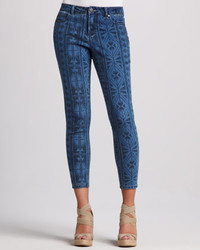 Liverpool Abby Skinny Aztec Print Cropped Jeans