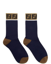 Fendi Blue Forever Socks