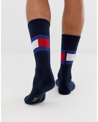 Tommy Hilfiger Flag Socks In Navy