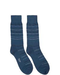 Paul Smith Navy Chain Stripe Socks
