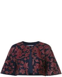 Oscar de la Renta Cropped Jacket With Print