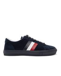 Moncler Navy Suede New Monaco Sneakers