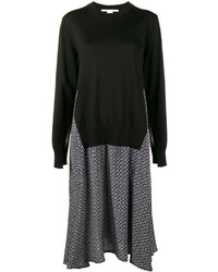 Stella McCartney Printed Dress With Sweater Overlay