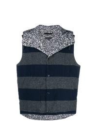 Engineered Garments Striped Reversible Gilet