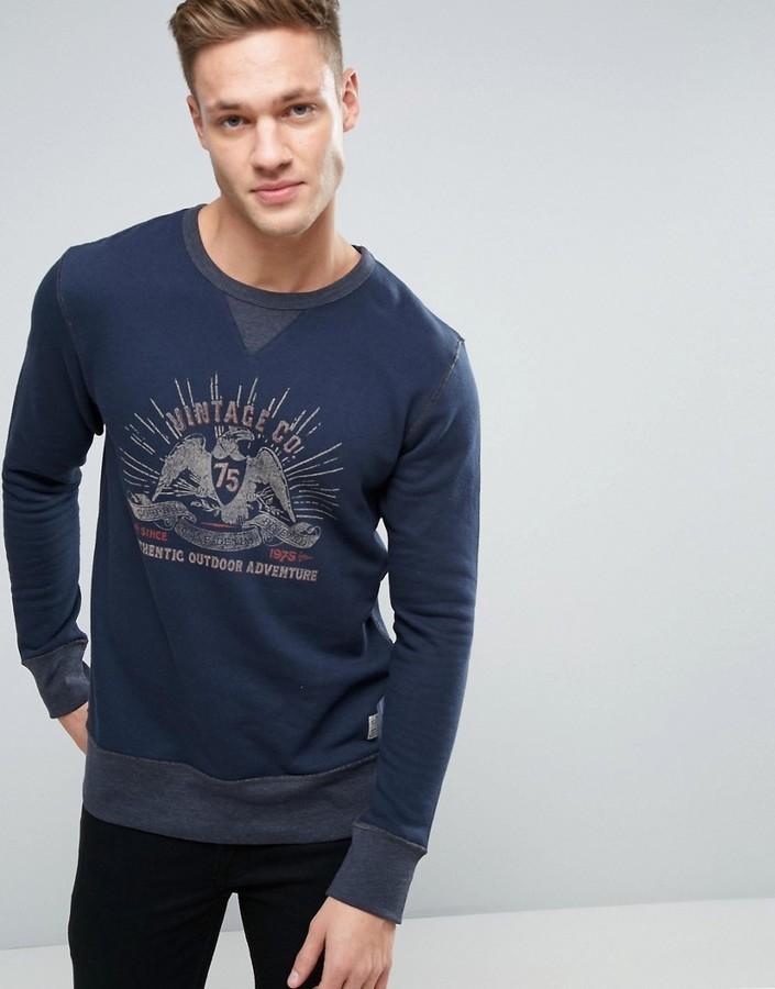 In Washed Sweatshirt And Look Vintage Jack With Jones qHwFxfcpI