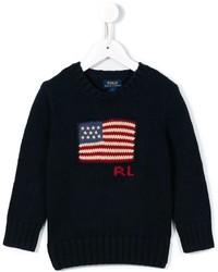 Ralph Lauren Kids American Flag Intarsia Jumper