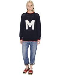 Marni M Intarsia Cotton Knit Sweater