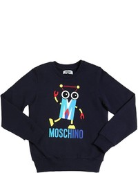 Moschino Robot Printed Cotton Sweatshirt