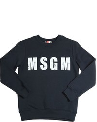 MSGM Logo Print Cotton Sweatshirt