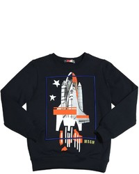 MSGM Rocket Printed Cotton Sweatshirt