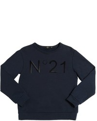 N°21 Flocked Printed Cotton Sweatshirt