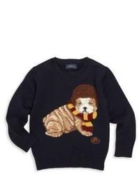 Ralph Lauren Toddlers Little Boys Bulldog Intarsia Sweater