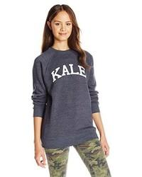 Navy Print Sweater