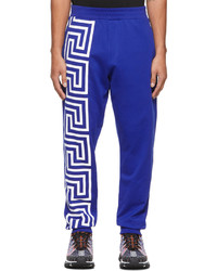 Versace Blue Greca Lounge Pants