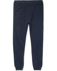 Folk Goss Brothers Slim Fit Tapered Printed Loopback Cotton Jersey Sweatpants