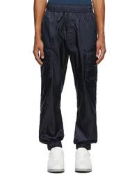 Valentino Navy Optical Monogram Track Pants