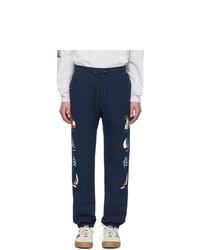 Noah NYC Navy Sailboat Lounge Pants