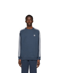 adidas Originals Blue 3 Stripes Sweatshirt