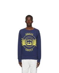 Gucci Blue Interlocking G Crewneck Sweatshirt