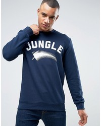 Esprit Crew Neck Sweatshirt With Jungle Print