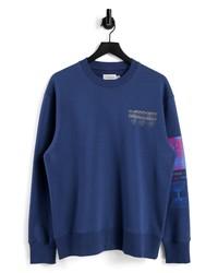 Topman Discover Print Cotton Sweatshirt