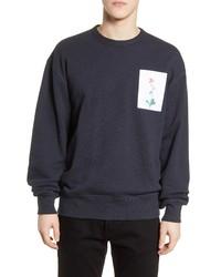 rag & bone Flower Graphic Crewneck Sweatshirt