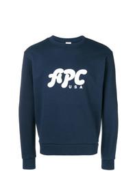A.P.C. Logo Crew Neck Sweatshirt