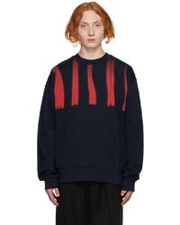 Marni Navy Distorted Logo Sweatshirt