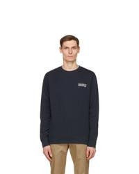 Wood Wood Navy Hugh Info Sweatshirt
