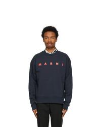 Marni Navy Logo Sweatshirt