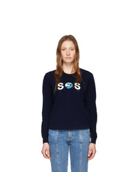Stella McCartney Navy We Are The Weather Sos Sweatshirt
