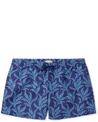 Club Monaco Arlen Slim Fit Mid Length Printed Swim Shorts