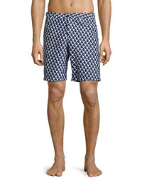 Orlebar Brown Dane 2 Graphic Swim Trunks Navy
