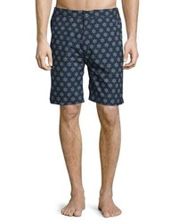 Peter Millar Fiji Sunburst Print Swim Trunks Navy