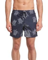 Vilebrequin Moorea Sharkskin Turtles Print Swim Trunks