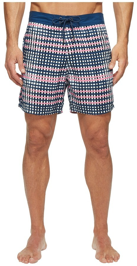 5a43d50941 Mr.Swim Mr Swim Flat Plaid Printed Chuck Boardshorts Swimwear, $65 ...