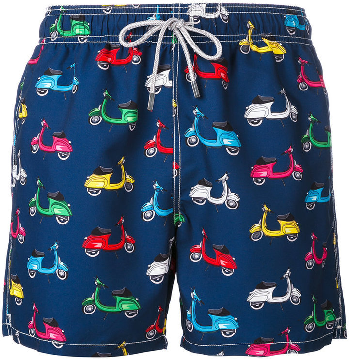 a2790c903d MC2 Saint Barth Scooter Print Swim Shorts, $92 | farfetch.com ...
