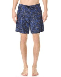 Z Zegna Tropical Print Swim Trunks