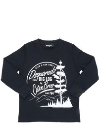 DSQUARED2 Forest Printed Cotton Jersey T Shirt