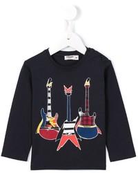Junior Gaultier Guitar Print T Shirt